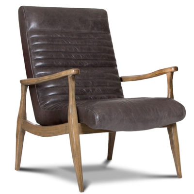 Erik Chair with solid maple wood frame in brown leather by Precedent Furniture at Creative Classics Furniture in Alexandria VA near Washington DC and Arlington VA
