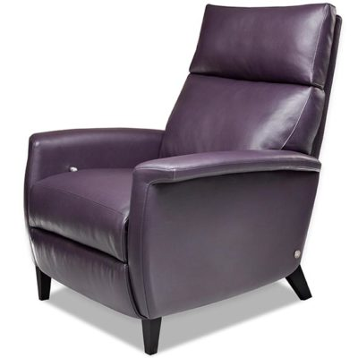 Felix Comfort Recliner by American Leather in deep purple leather at Creative Classics Furniture in Alexandria VA near Washington DC and Arlington VA