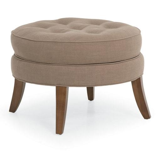 Lillian Round Ottoman in beige fabric at Creative Classics Furniture in Alexandria VA near Arlington VA and Washington DC