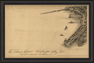 Antique Reproduction map of 1883 Washinton D.C. Harbor by Spicher and Company at Creative Classics Furniture in Alexandria VA near Washington DC and Arlington VA