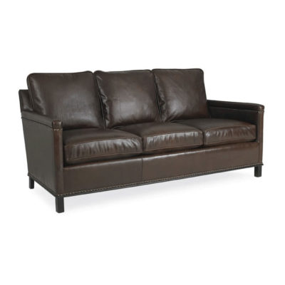 Gotham 75 inch Sofa in dark brown leather with decorative nailhead trim by CR Laine Furniture at Creative Classics Furniture in Alexandria VA near Arlington VA and Washington DC