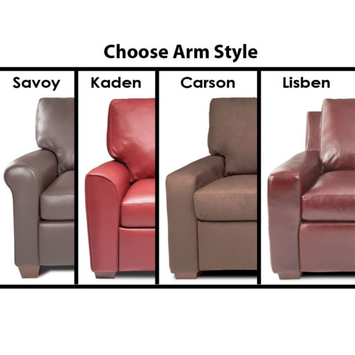Lisben Arm Styles by American Leather at Creative Classics Furniture in Alexandria VA near Arlington VA and Washington DC