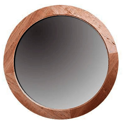 Eastwood Solid Wood Frame Round Mirror by Gat Creek Furniture at Creative Classics Alexandria VA