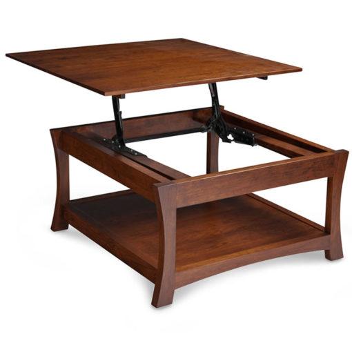 Solid Wood Loft Lift Top Table by Simply Amish Open View at Creative Classics Furniture in Alexandria VA near Arlington VA and Washington DC