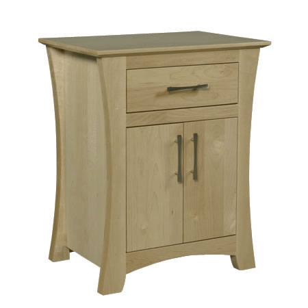 Solid Wood Loft Nightstand in light finish by Simply Amish at Creative Classics Furniture in Alexandria VA near Arlington VA and Washington DC