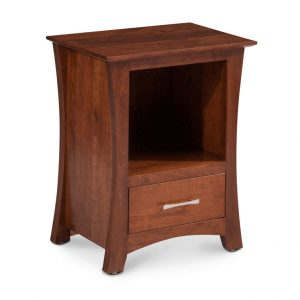 Loft Nightstand with Opening and Drawer Main