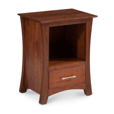 Loft Nightstand with Opening and Drawer Cherry Finish by Simply Amish Furniture at Creative Classics Furniture in Alexandria VA near Washington DC and Arlington VA