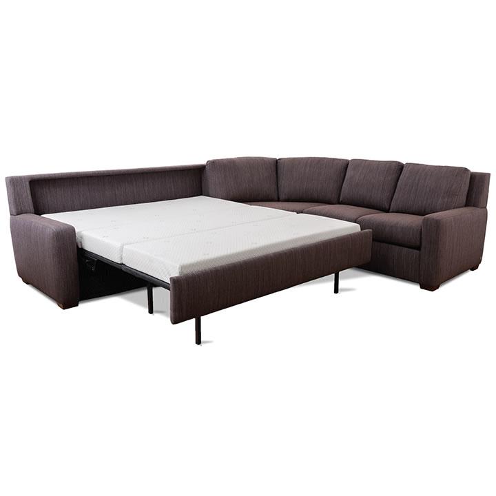 High Quality Lyndon Sleeper Sofa Open
