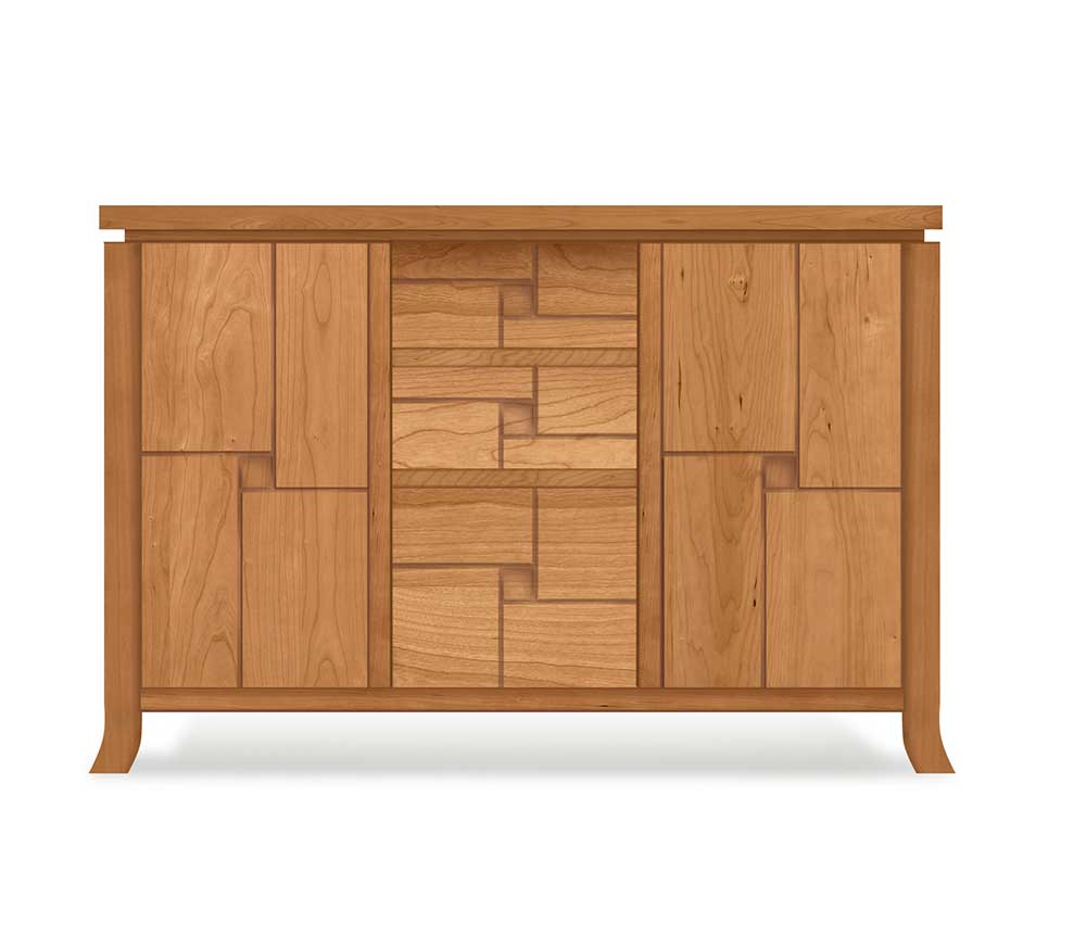 Computer Rendering of Custom Design for Cherry Wood Dining Cabinet at Creative Classics Furniture in Alexandria, VA