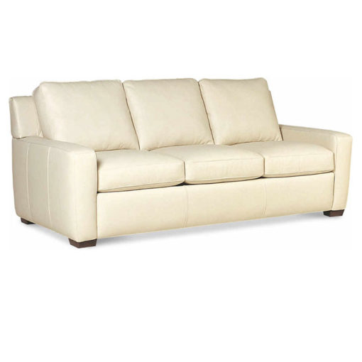 Lisben Sofa in White Leather by American Leather at Creative Classics Furniture in Alexandria VA near Arlington VA and Washington DC