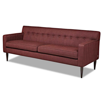 Quincy Sofa in Three Sizes dark red fabric by American Leather at Creative Classics Furniture in Alexandria VA near Arlington VA and Washington DC