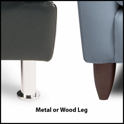Bennet leg options in metal or wood by American Leather at Creative Classics Furniture in Alexandria VA near Arlington VA and Washington DC