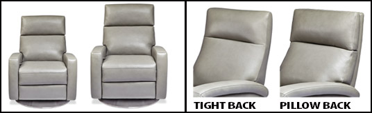 American Leather Comfort Recliner tight back versus pillow back at Creative Classics Furniture Alexandria VA