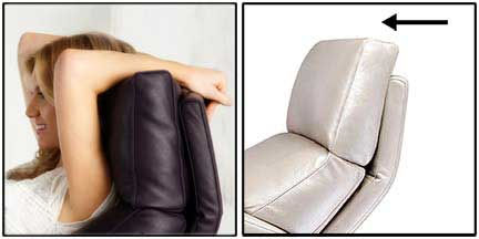 American Leather Comfort Recliner Adjustable Headrest at Creative Classics Furniture Alexandria VA