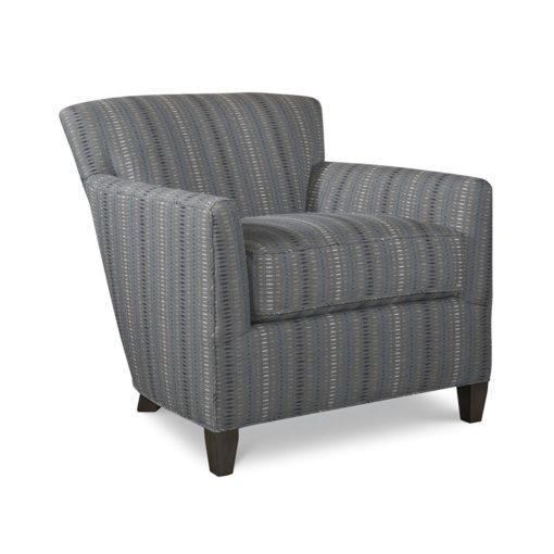 Shelburne Chair in gray stripe fabric by CR Laine Furniture at Creative Classics Furniture in Alexandria VA near Arlington VA and Washington DC