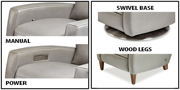 American Leather Comfort Recliner Manual vs Power and Swivel vs Legs at Creative Classics Furniture Alexandria VA