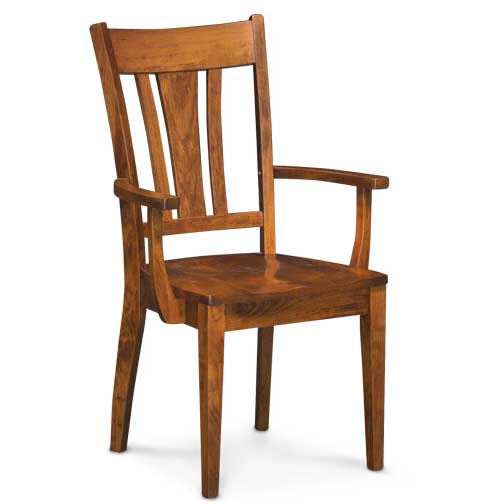solid wood Sheffield dining chair with arms by Simply Amish Furniture at Creative Classics Furniture in Alexandria VA near Washington DC and Arlington VA