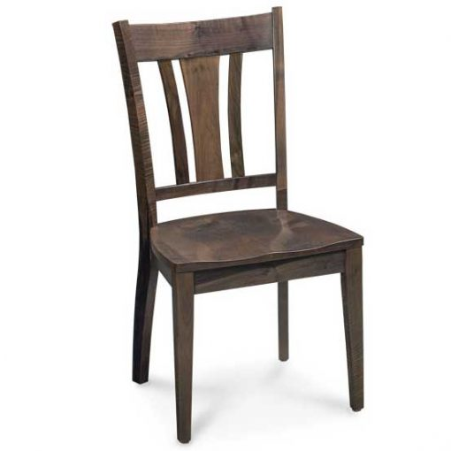 SilverCreek finish solid maple wood Sheffield dining chair by Simply Amish Furniture at Creative Classics Furniture in Alexandria VA near Washington DC and Arlington VA