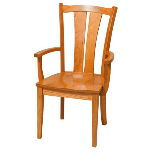 Solid Wood Victoria Dining Chair with arms by Simply Amish Furniture at Creative Classics Furniture in Alexandria VA