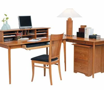 Sarah Solid Wood Secretary Desk and Return with Sarah Two Drawer File Cabinet by Copeland Furniture at Creative Classics Furniture in Alexandria, VA near Arlington VA and Washington DC