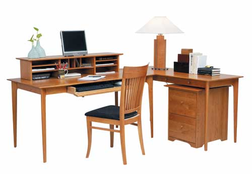 Sarah Solid Wood Desk and Return by Copeland Furniture at Creative Classics Furniture in Alexandria, Va