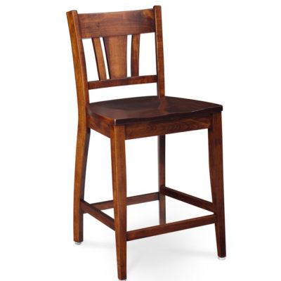 solid wood Sheffield Bar Stool by Simply Amish at Creative Classics Furniture in Alexandria Va near Arlington VA and Washington DC