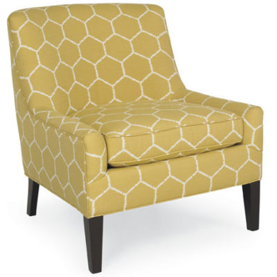 Simon Small Scale Chair in gold fabric by CR Laine Furniture at Creative Classics Furniture in Alexandria VA
