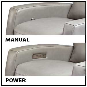 American Leather Comfort Recliners come with Manual or Power Reclining