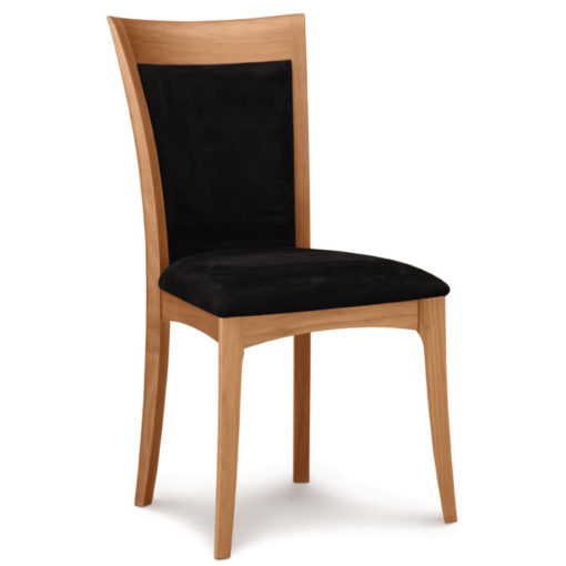 Morgan Dining Chair with upholstered seat in cherry wood by Copeland Furniture at Creative Classics Furniture in Alexandria VA