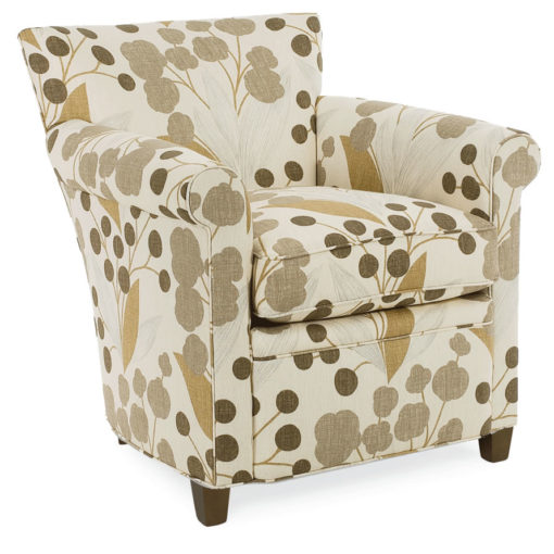 Front View of Philippe Swivel Chair in print fabric by CR Laine Furniture at Creative Classics Furniture in Alexandria VA near Washington DC and Arlington VA