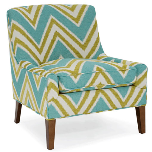 Simon Small Scale Chair in aqua and lime fabric by CR Laine Furniture at Creative Classics Furniture in Alexandria VA