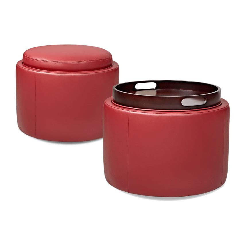 Isla round ottoman in three sizes creative classics Round storage ottoman