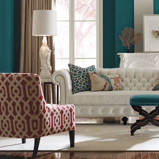 Living room scene with Simon Small Scale Chair by CR Laine Furniture at Creative Classics Furniture in Alexandria VA