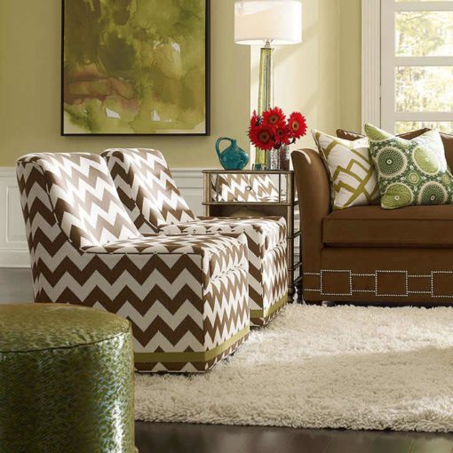 Living Room scene with Simon Swivel Chairs by CR Laine Furniture at Creative Classics Furniture in Alexandria VA