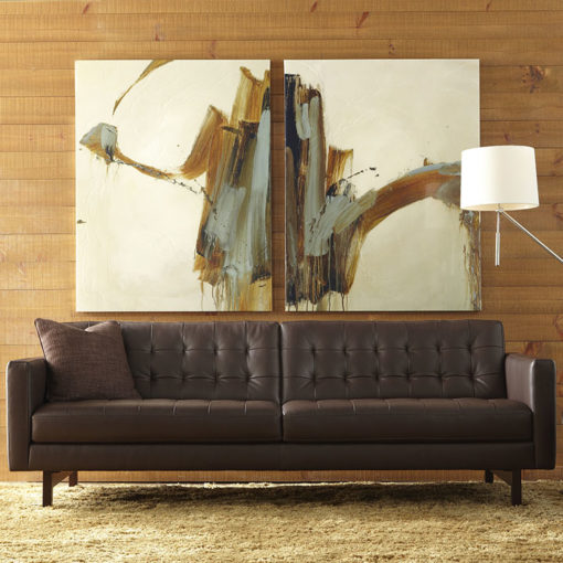 Living room scene of American Leather Parker Sofa in Two Sizes at Creative Classics Furniture Alexandria VA near Arlington VA and Washington DC