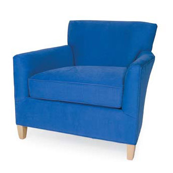 Shelburne Chair in bright blue fabric by CR Laine Furniture at Creative Classics Furniture in Alexandria VA near Arlington VA and Washington DC