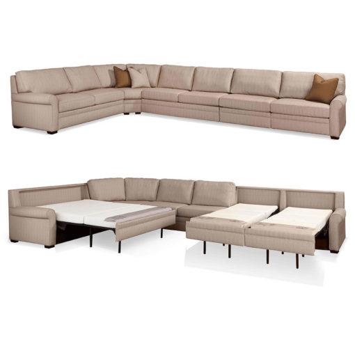 Sectional Comfort Sleeper Sofa Open