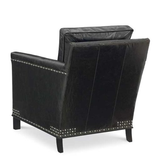 Gotham Chair in black leather from back by CR Laine Furniture