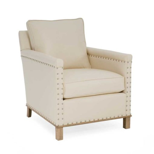 Gotham Chair in white leather by CR Laine Furniture