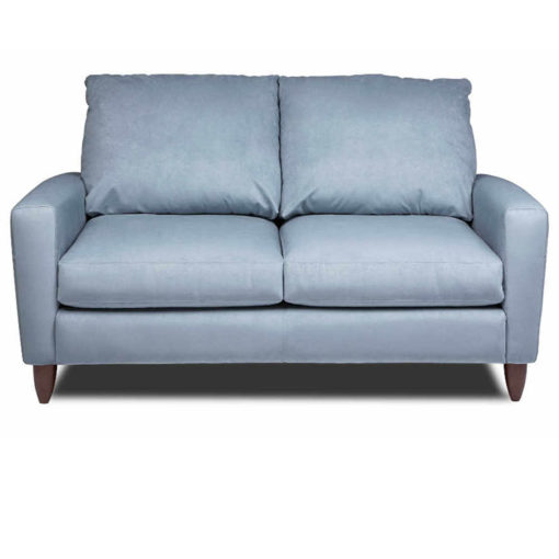 Front view of Bennet Loveseat in blue fabric by American Leather at Creative Classics Furniture in Alexandria VA near Arlington VA and Washington DC