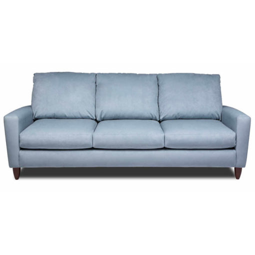 Front view of Bennet Sofa in blue fabric by American Leather at Creative Classics Furniture in Alexandria VA near Arlington VA and Washington DC