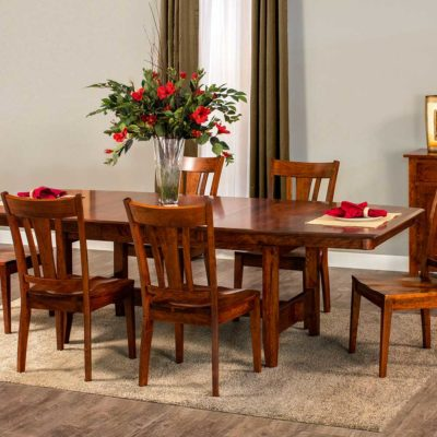 Dining room scene of Build Your Own Solid Wood Trestle Dining Table by Simply Amish Furniture at Creative Classics Furniture in Alexandria VA near Arlington VA and Washington DC