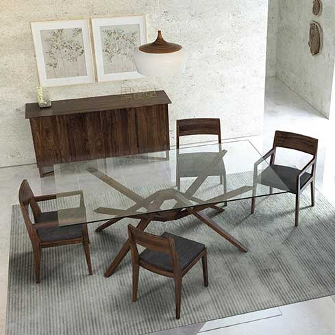Exeter Gl Top Dining Table