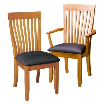 Solid wood Monterey Dining chairs with padded seats by Gat Creek Furniture at Creative Classics in Alexandria VA near Arlington VA and Washington DC