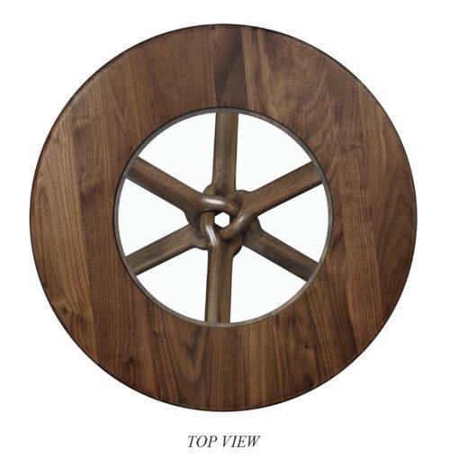 Top View Unity Coffee Table in natural walnut by Lyndon Furniture at Creative Classics Furniture in Alexandria VA near Arlington VA and Washington DC