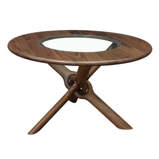 Side View of Unity Coffee Table in natural walnut by Lyndon Furniture at Creative Classics Furniture in Alexandria VA near Arlington VA and Washington DC