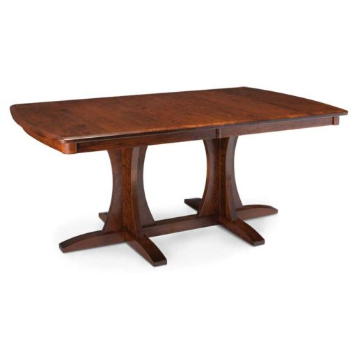 solid wood Loft Build Your Own Double Pedestal Table by Simply Amish Furniture at Creative Classics Furniture in Alexandria VA near Washington DC and Arlington VA