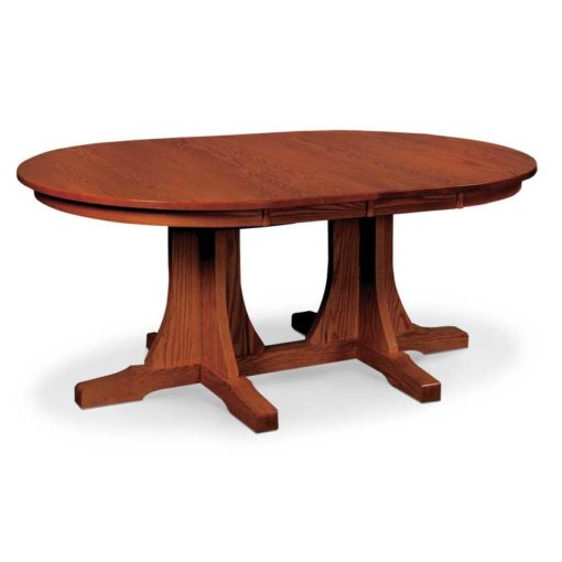 Solid wood Mission Build Your Own Double Pedestal Table by Simply Amish Furniture at Creative Classics Furniture in Alexandria VA near Washington DC and Arlington VA