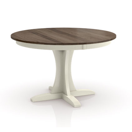 Two tone round Build Your Own Studio Pedestal table by Simply Amish at Creative Classics Furniture in Alexandria VA near Arlington VA and Washington DC