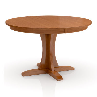 Solid wood Build Your Own Studio Pedestal table by Simply Amish at Creative Classics Furniture in Alexandria VA near Arlington VA and Washington DC